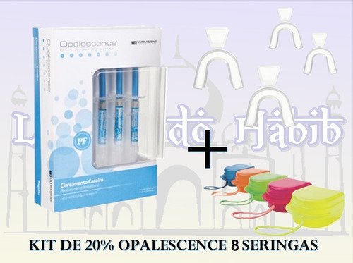 Clareamento Dental 20 Kit C 8 Uso 1h Par Moldeira Estojo R 109