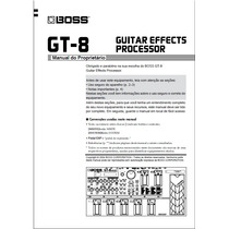 Manual Boss Gt-8 Português - Em Pdf