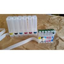 Bulk Ink Completo Epson T50 R270 R290 Tx700 Tx720 1410 1430w