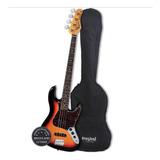Contra Baixo Jazz Bass Tagima Woodstock Tw-73 Sb + Capa