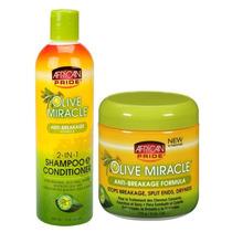 Kit Shampoo 2 Em 1 + Mascara Capilar Cabelos Afros