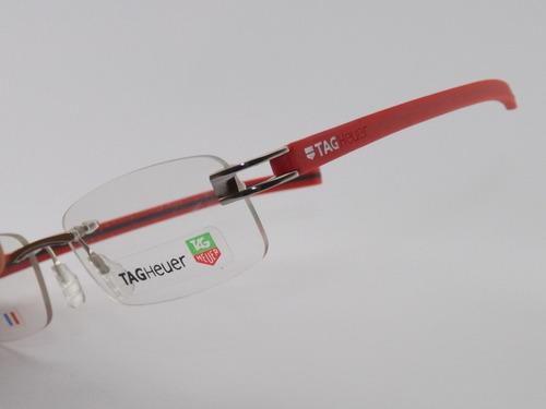 0f6cc02e68849 Armação Para Óculos De Grau Tag Heuer 7644 Vermelho Vip