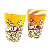 Kit 6 Balde Pipoca 2 Litros Pote Estampado Popcorn