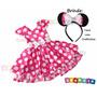 Fantasia Infantil Festa Carnaval Minnie Rosa - Minie Luxo