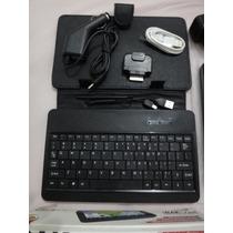 Capa + Teclado Tablet Bak 784 Com Acessórios