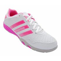 Tênis Feminino Adidas F500 Branco E Rosa Mod:12663
