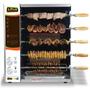 Churrasqueira A Gás Em Inox Para 5 Espetos Giratórios