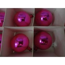 #17666 - Natal - 24 Bolinhas Vidro Rosa Pink!!!