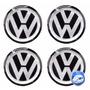 Jogo Emblemas Volkswagen P/ Calota Ou Roda C/4 Peças 51mm