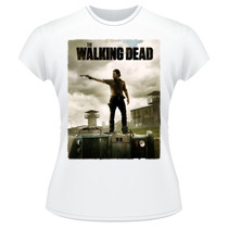Baby Look The Walking Dead Amc Rick Grimes Camiseta Feminina