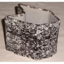 Vaso Ceramica Esmaltado Formato Clips ;