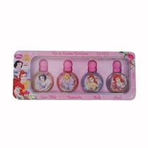 Perfume Kit 4 Miniaturas Princesas 4ml Cada Disney