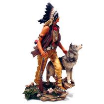 Indio Guerreiro Apache E Lobo Cinzento Mod 50031 By Veronese