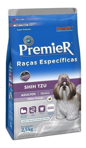Ração Premier Raças Específicas Shih Tzu Super Premium Cachorro Adulto Raça Pequena Frango 2.5kg
