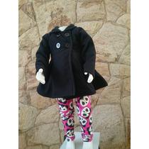 Conjunto Infantil Inverno Casaco Soft E Calça Cotton 1,2,3