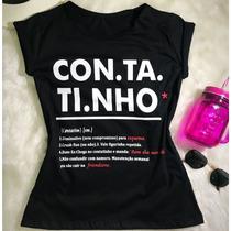 5a582d0208 Frases Blusas Femininas Kit 5 Peças Atacado Tecido Algodão à venda ...