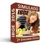 2º Simulado Comentado Ibge 2016 - Técnico - Banca Fgv