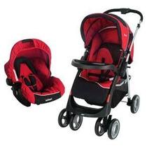 Carrinho Travel System Vermelho + Bebê Conf Infanti Gagia