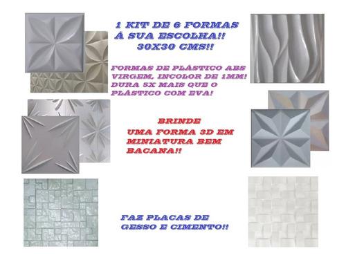 6 Formas De Plástico Abs Para Cimentício E Gesso 3d