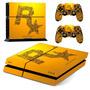Skin Capa Adesivo Vinil Playstation 4 Ps4 Rockstar Games