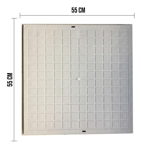 Tampa Para Caixa De Esgoto/gordura 55cm C Aro Polipropileno