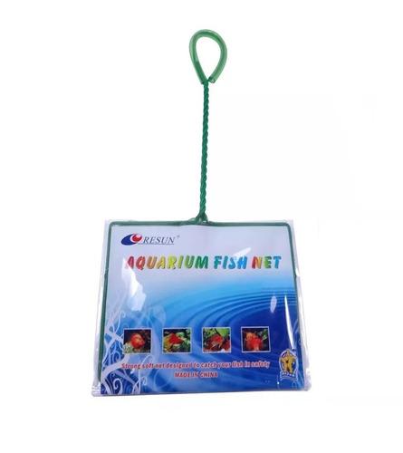 Rede Para Peixes Aquários Nº8 25x17cm Cabo 35cm Resun Fn100