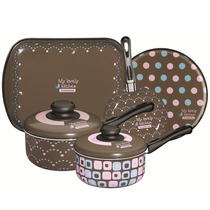 Conjunto De Panelas 5 Pçs - My Lovely Kitchen- Tramontina