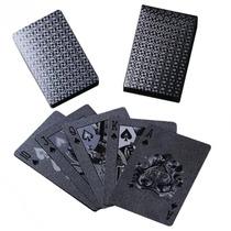Baralho Preto Black Poker 52 Cartas 2018 Novo