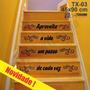 Adesivo Papel Parede Escada Aproveite Vida Frase Em Estoque