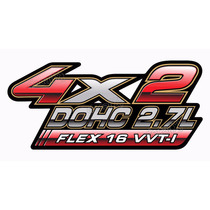 Adesivo Hilux 4x2 Dohc 2.7l Flex 16v Vvt-i - Decalx