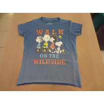 Camisa Ellus Kids Co Vint Spray Bran Snoopy Walk Careca.azul