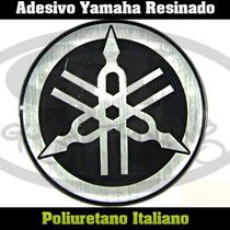 Adesivo Logo Yamaha Resinado 02 Pçs (par) Resina Pu Italiana