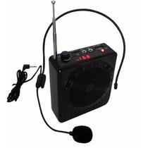 Microfone Amplificado Palestras Radio Usb Cartao Sd Mp3 Aula