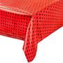 Toalha Mesa Dos Convidados Vermelha De Bolinhas Pretas- 20u
