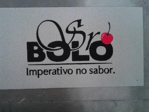 Tapete Capacho Personalizado Empresa  - Sob Medida Vulcaniz.