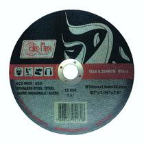 100 X Disco Corte Inox 7 Pol. 180 X 1,6 X 22,2 Prata Disflex
