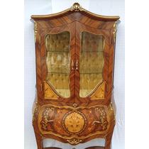 Cristaleira Estilo Antigo Luis Xv Detalhes Em Bronze