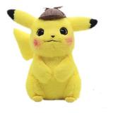 Pelúcia Pokemon Pikachu Detetive 30 Cm À Pronta Entrega