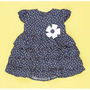 Vestido Para Bebê - Tricoline - Floral Azul Marinho - G