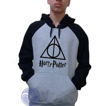Blusa Harry Potter Moletom Canguru Raglan!!