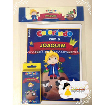 Kit Colorir Pequeno Principe Loiro 2c\giz De Cera( Artmovie)