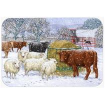 Vacas E Ovelhas Na Cozinha De Neve Ou Bath Mat 20x30 Asa2207