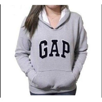 Gap Moleton Cinza Feminino Blusa Frio Casaco Super Promoção