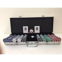 Kit Poker 500 Fichas Oficiais Numeradas Com Maleta