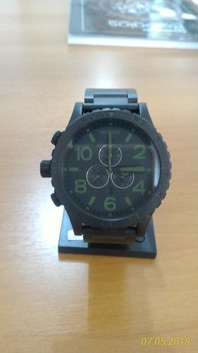 ed8d8100d56 Relógio Nixon 51-30 Matte Black Chrono Novo Original