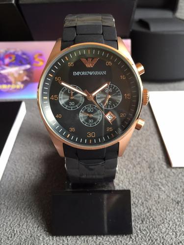c9019fa1d47 Relógio Emporio Armani Ar5905 Rose Original Completo Caixa