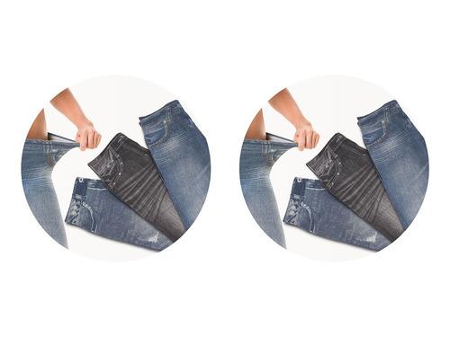 Calça Modeladora Lejeans - 6 Un 2 Preta + 2 Vintage +2 Azul