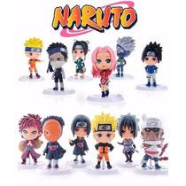 Mini Figures Naruto Shippuden - 12 Peças