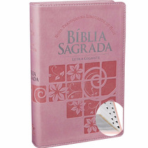 Bíblia Sagrada Letra Gigante Feminina Ntlh Índice Rosa