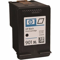 Cartucho Hp 901 Xl Black 20ml + Brinde Tintas